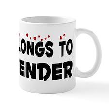 Belongs To A Bartender Mug