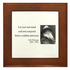 Walter Whitman 5 Framed Tile