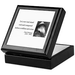 Walter Whitman 5 Keepsake Box