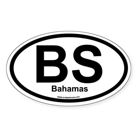 BS Bahamas Oval Sticker