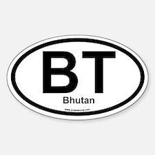 BT Bhutan Oval Decal