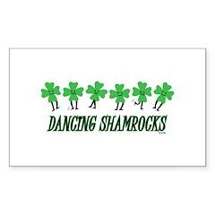 DANCING SHAMROCKS Rectangle Decal