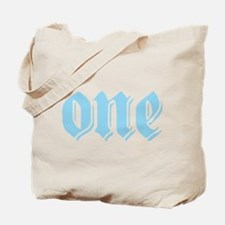 ONE birthday boy blue Tote Bag