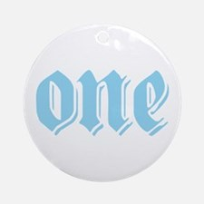 ONE birthday boy blue Ornament (Round)