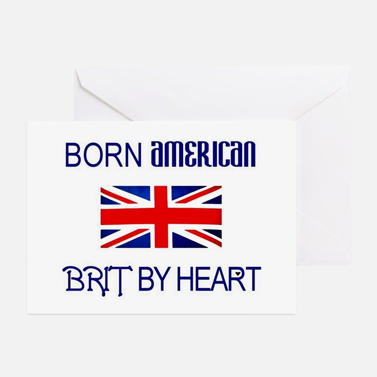 Born American, British by Hea Greeting Cards (Pack