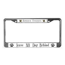 Border Terrier Boss Dog License Plate Frame