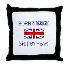 Born American, British by Hea Throw Pillow