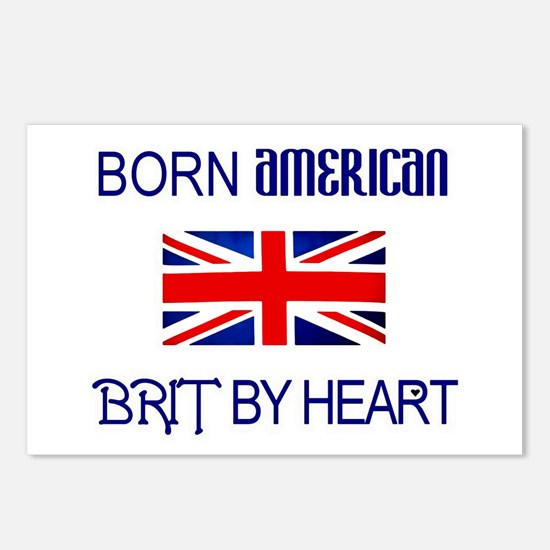 Born American, British by Hea Postcards (Package o