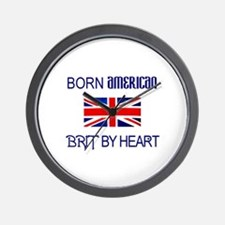 Born American, British by Hea Wall Clock