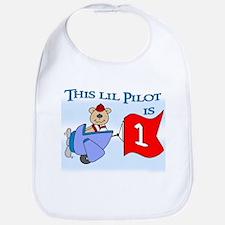 Lil Pilot First Birthday Bib