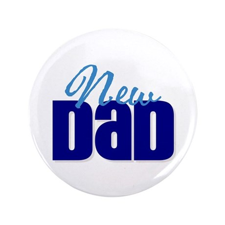 """New Dad 3.5"""" Button (100 pack)"""