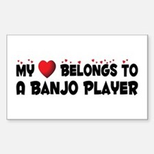 Belongs To A Banjo Player Rectangle Decal
