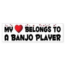 Belongs To A Banjo Player Bumper Bumper Sticker
