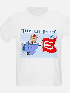 Lil Pilot 6th Birthday T-Shirt