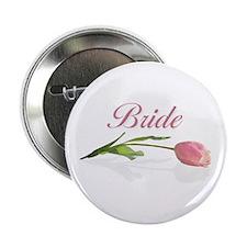 Pink Tulip Bride Button