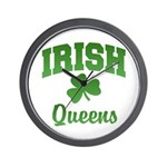Queens Irish Wall Clock