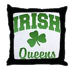 Queens Irish Throw Pillow