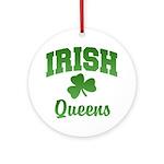 Queens Irish Ornament (Round)