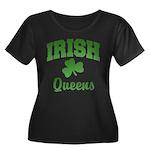 Queens Irish Women's Plus Size Scoop Neck Dark T-S