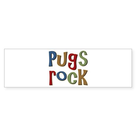 Pugs Rock Bumper Sticker