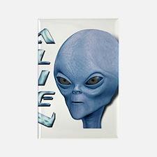 Alien Type 1 Blue Rectangle Magnet