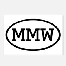 MMW Oval Postcards (Package of 8)
