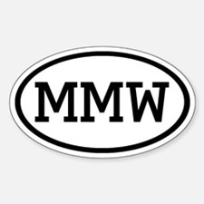 MMW Oval Oval Decal
