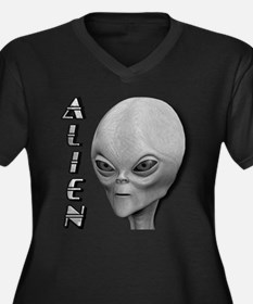 Alien Type 1 Grey Part 2 Women's Plus Size V-Neck