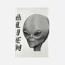 Alien Type 1 Grey Part 2 Rectangle Magnet