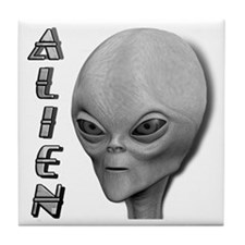 Alien Type 1 Grey Part 2 Tile Coaster