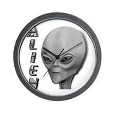 Alien Type 1 Grey Part 2 Wall Clock