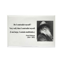 Walter Whitman 7 Rectangle Magnet (100 pack)