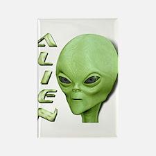 Alien Type 1 Lime Rectangle Magnet