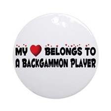 Belongs To A Backgammon Player Ornament (Round)