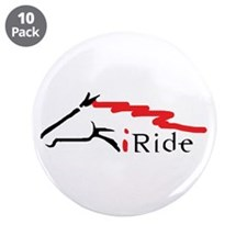"""I Ride 3.5"""" Button (10 pack)"""