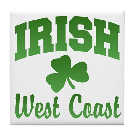 West Coast Irish Tile Coaster