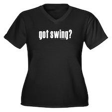 got swing? Women's Plus Size V-Neck Dark T-Shirt