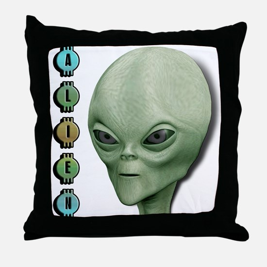 Alien Type 1 Lime Part 2 Throw Pillow