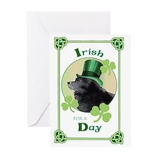 St. Patrick Schipperke Greeting Card