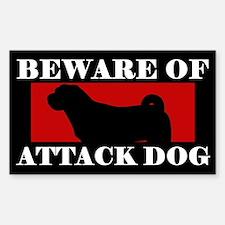 Beware of Attack Dog Shar-Pei Decal