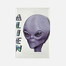 Alien Type 1 Purple Rectangle Magnet