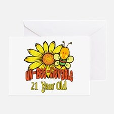 Un-Bee-Lievable 21st Greeting Card