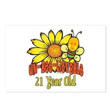 Un-Bee-Lievable 21st Postcards (Package of 8)