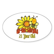 Un-Bee-Lievable 21st Oval Decal