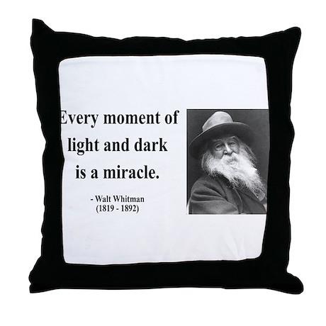 Walter Whitman 8 Throw Pillow
