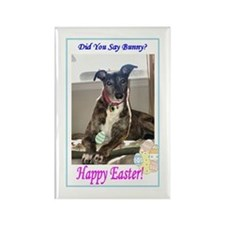 Easter Greyhound Rectangle Magnet