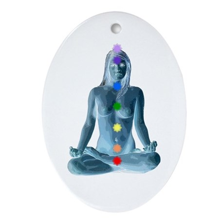 7 Chakras Oval Ornament