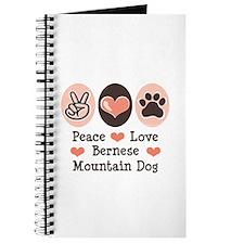 Peace Love Bernese Mountain Dog Journal