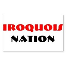 IROQUOIS NATION Rectangle Decal