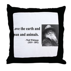 Walter Whitman 9 Throw Pillow